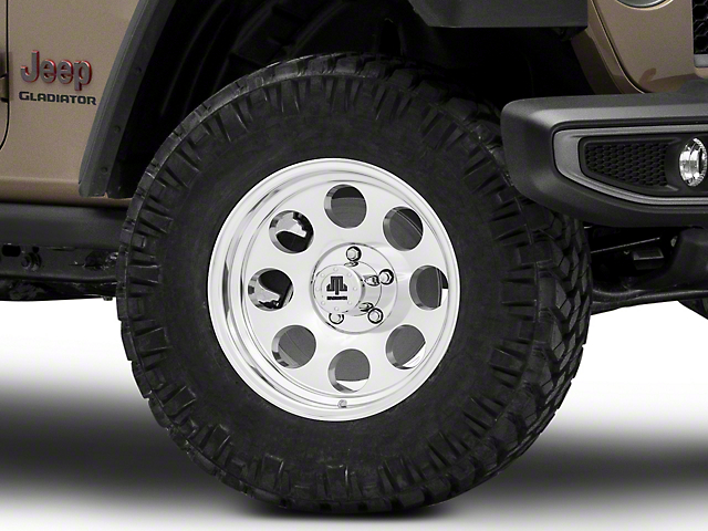 Mammoth 8 Aluminum Polished Wheel; 17x9 (20-22 Jeep Gladiator JT)
