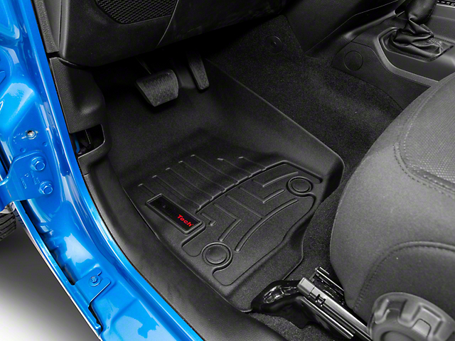Weathertech DigitalFit Front and Rear Floor Liners; Black (20-21 Jeep Gladiator JT)