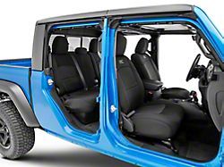Rough Country Neoprene Front and Rear Seat Covers; Black (20-22 Jeep Gladiator JT w/ Factory Cloth Seats)