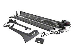 Rough Country 50-Inch Black Series Dual Row Straight LED Light Bar with Upper Windshield Mounting Brackets (20-22 Jeep Gladiator JT, Excluding Mojave)