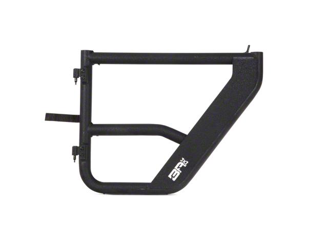 Body Armor 4x4 Rear Tube Doors; Textured Black (20-21 Jeep Gladiator JT)