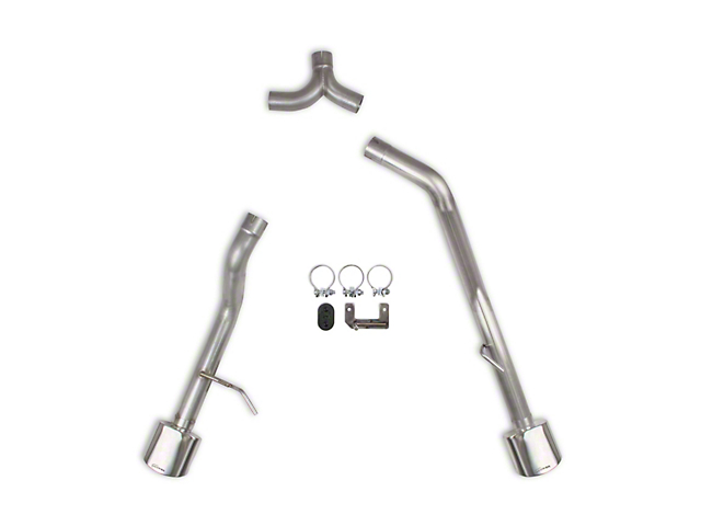 Hooker BlackHeart Muffler Delete Dual Axle-Back Exhaust System with Polished Tips; Rear Exit (20-21 3.6L Jeep Gladiator JT)