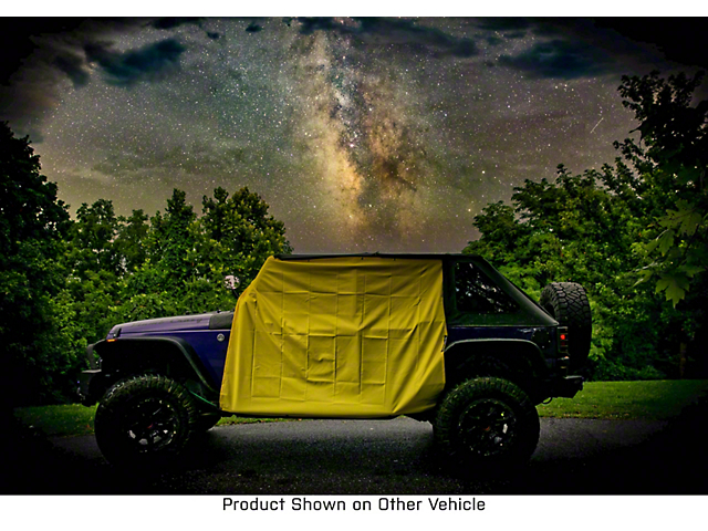 Four Door Rain Curtains; Yellow (20-22 Jeep Gladiator JT)