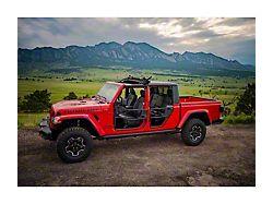 Bestop Sunrider for Factory Hard Tops; Black Twill (20-22 Jeep Gladiator JT)