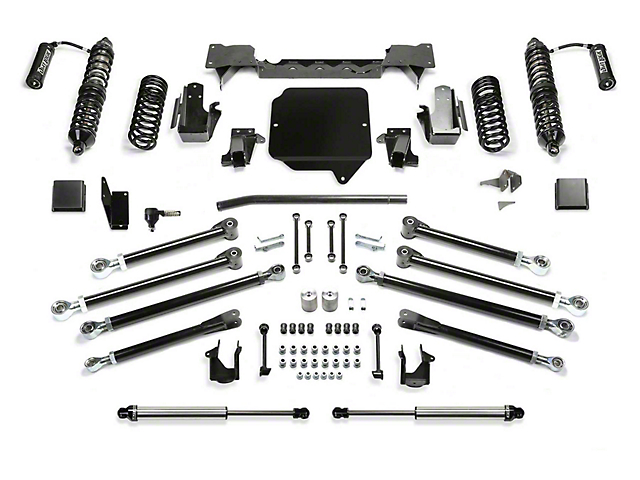 Fabtech 5-Inch Crawler Coil-Over Suspension Lift Kit with Dirt Logic Non-Reservoir Shocks (20-21 3.6L Jeep Gladiator JT)