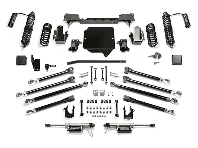 Fabtech 5-Inch Crawler Coil-Over Suspension Lift Kit with Dirt Logic Reservoir Shocks (20-21 3.6L Jeep Gladiator JT)