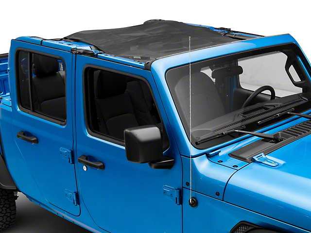Steinjager Teddy Top Solar Screen Cover; Black (20-21 Jeep Gladiator JT)