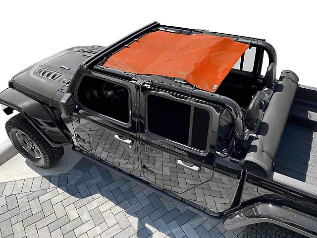 Steinjager Teddy Top Solar Screen Cover; Orange (20-21 Jeep Gladiator JT)