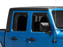 In-Channel Ventvisor Window Deflectors; Front and Rear; Dark Smoke (20-22 Jeep Gladiator JT)