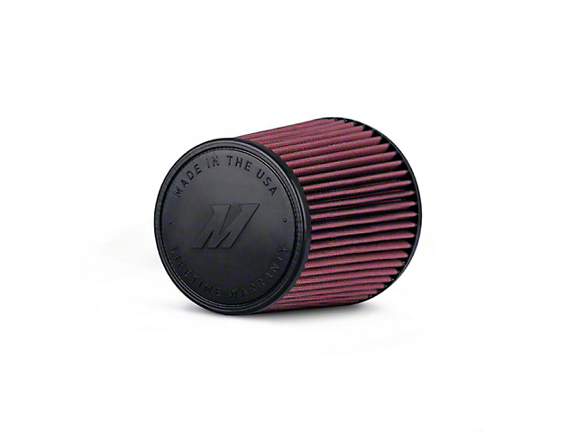 Mishimoto Air Filter; Performance; 3.50-Inch Inlet; 8-Inch Filter Length; Red (Universal; Some Adaptation May Be Required)