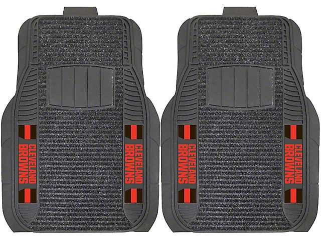 Molded Front Floor Mats with Cleveland Browns Logo (Universal Fitment)