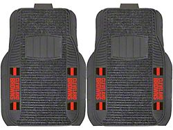 Molded Front Floor Mats with Cleveland Browns Logo (Universal; Some Adaptation May Be Required)