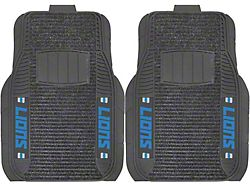 Molded Front Floor Mats with Detroit Lions Logo (Universal; Some Adaptation May Be Required)
