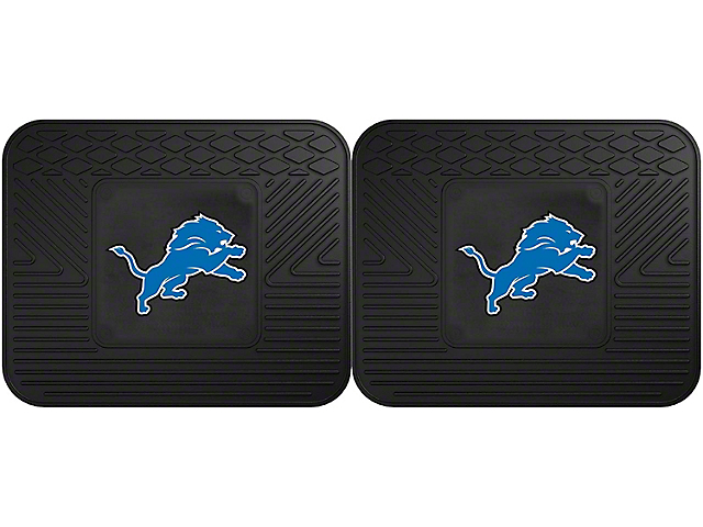 Molded Rear Floor Mats with Detroit Lions Logo (Universal Fitment)