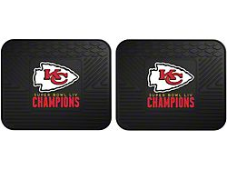Molded Rear Floor Mats with Kansas City Chiefs Logo (Universal; Some Adaptation May Be Required)