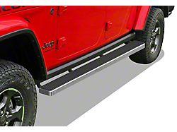 5-Inch iStep Running Boards; Black (20-22 Jeep Gladiator JT)