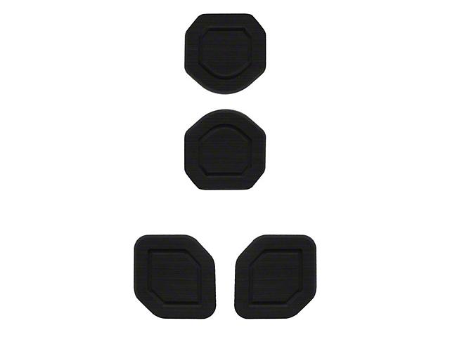 Interior Cup Holder Foam Inserts; 4-Piece Kit; Black/Black (18-21 Jeep Wrangler JL)