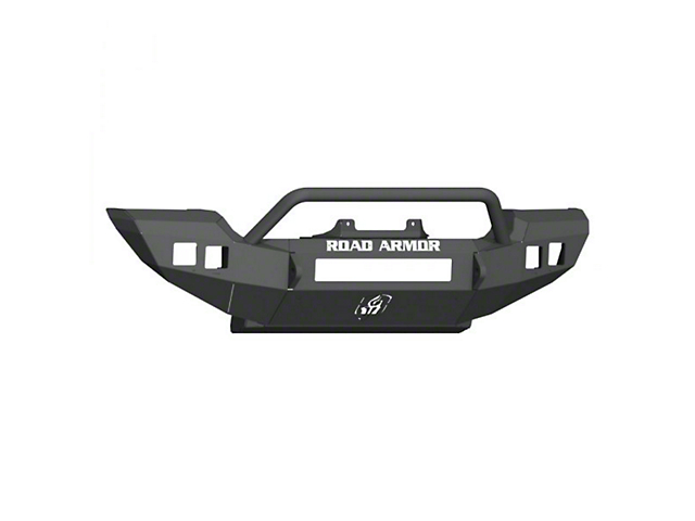 Road Armor Stealth Full Width Winch Front Bumper with Pre-Runner Guard; Textured Black (18-21 Jeep Wrangler JL, Excluding Rubicon)
