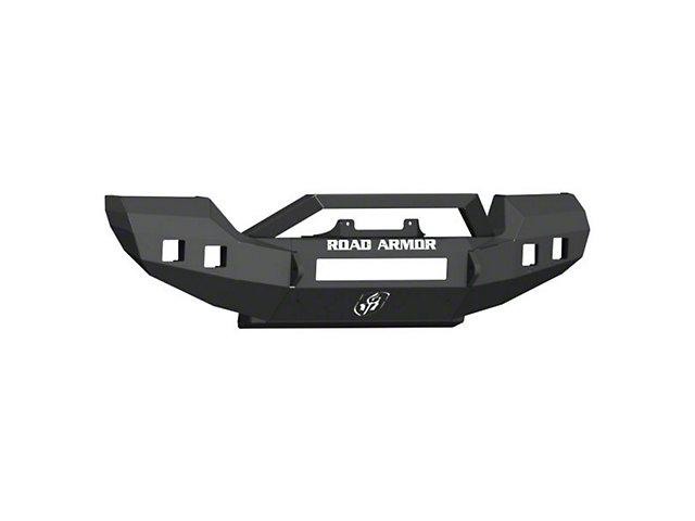 Road Armor Stealth Full Width Winch Front Bumper with Sheetmetal Bar Guard; Textured Black (18-21 Jeep Wrangler JL Rubicon)
