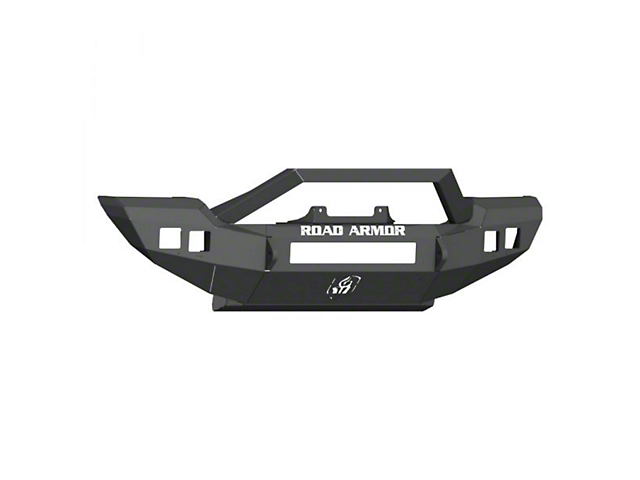 Road Armor Stealth Full Width Winch Front Bumper with Sheetmetal Bar Guard; Textured Black (18-21 Jeep Wrangler JL, Excluding Rubicon)