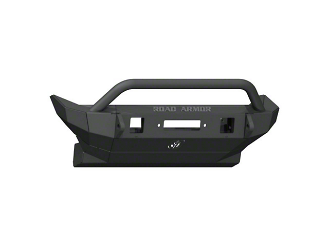 Road Armor Stealth Winch Mid-Width Front Bumper with Pre-Runner Guard; Textured Black (18-21 Jeep Wrangler JL)