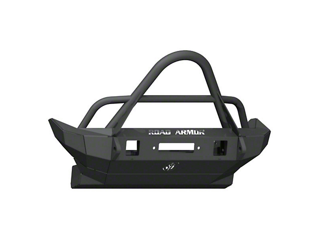 Road Armor Stealth Winch Mid-Width Front Bumper with Stinger Guard; Textured Black (18-21 Jeep Wrangler JL)