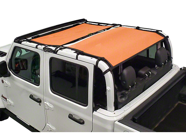Dirty Dog 4x4 Front and Rear Seat Sun Screen; Orange (20-21 Jeep Gladiator JT)