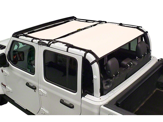 Dirty Dog 4x4 Front and Rear Seat Sun Screen; Sand (20-21 Jeep Gladiator JT)