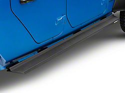 Iron Cross Rocker Side Step Bars; Matte Black (20-22 Jeep Gladiator JT)