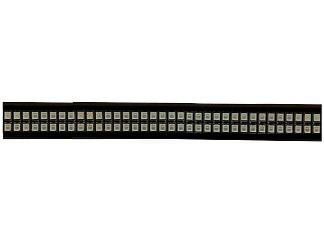 49-Inch Dual Row LED Tailgate Bar with Amber Turn Signals (Universal; Some Adaptation May Be Required)
