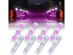 8-LED Rock Light Pod Truck Bed Lightning Kit; Purple (Universal; Some Adaptation May Be Required)