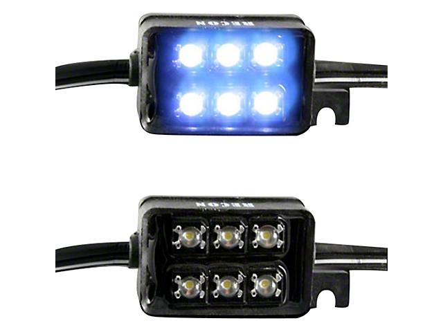 LED Bed Rail Light Kit; White (Universal Fitment)