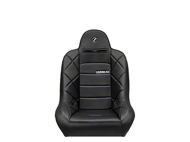 Corbeau Baja JP Suspension Seat; Black Vinyl (Universal; Some Adaptation May Be Required)