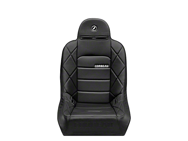 Corbeau Baja JP Wide Suspension Seat; Black Vinyl (Universal; Some Adaptation May Be Required)