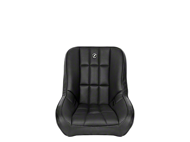 Corbeau Baja Low Back Suspension Seat; Black Vinyl (Universal; Some Adaptation May Be Required)