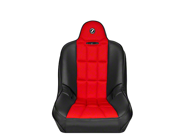 Corbeau Baja SS Suspension Seat; Black Vinyl/Red Cloth (Universal; Some Adaptation May Be Required)