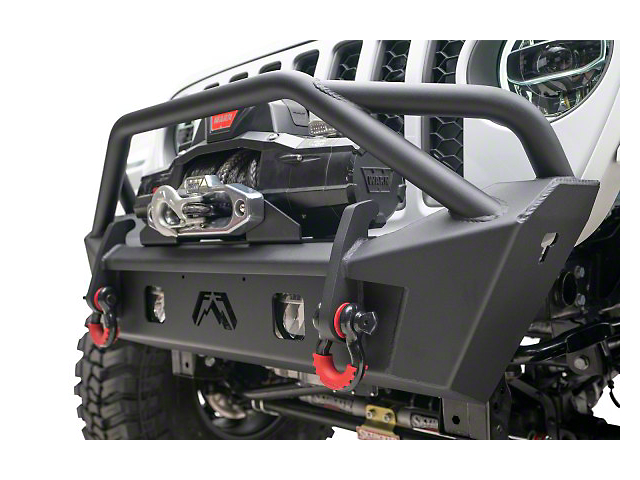 Fab Fours Stubby Front Bumper with Pre-Runner Guard; Bare Steel (20-21 Jeep Gladiator JT)