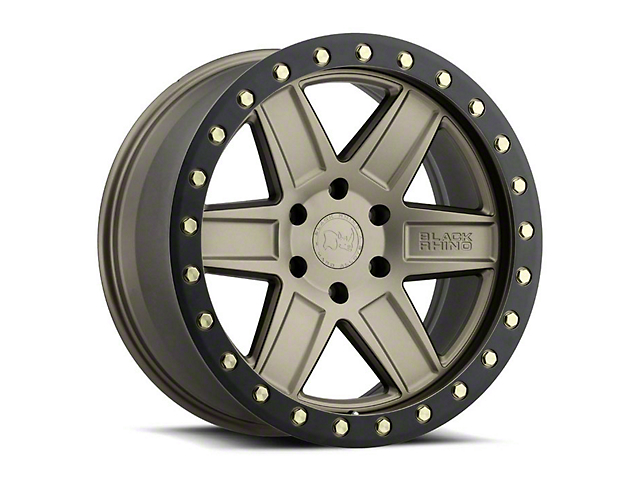 Black Rhino Attica Matte Bronze with Brass Bolts Wheel; 17x9 (18-21 Jeep Wrangler JL)