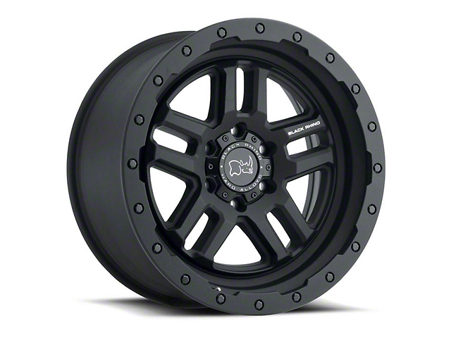 Black Rhino Barstow Textured Matte Black Wheel; 17x8 (07-18 Jeep Wrangler JK)