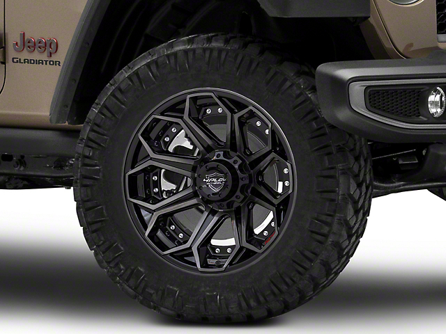 4Play 4P80R Brushed Black Wheel; 20x10 (07-18 Jeep Wrangler JK)