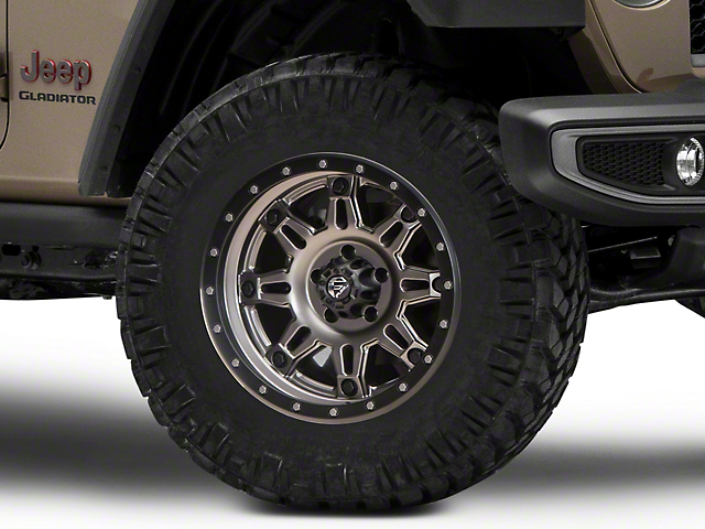 Fuel Wheels Hostage III Gunmetal and Black Wheel; 18x9 (20-22 Jeep Gladiator JT)