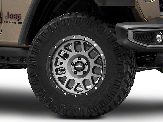 Pro Comp Wheels Vertigo Matte Graphite Wheel; 18x9 (20-22 Jeep Gladiator JT)