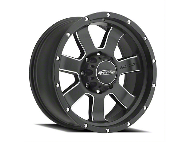 Pro Comp Wheels Inertia Satin Black Milled Wheel; 17x9 (20-21 Jeep Gladiator JT)