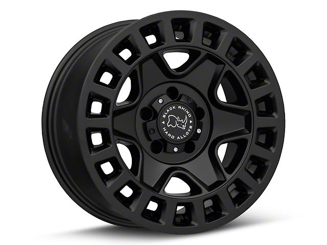 Black Rhino York Matte Black Wheel; 17x9 (20-22 Jeep Gladiator JT)