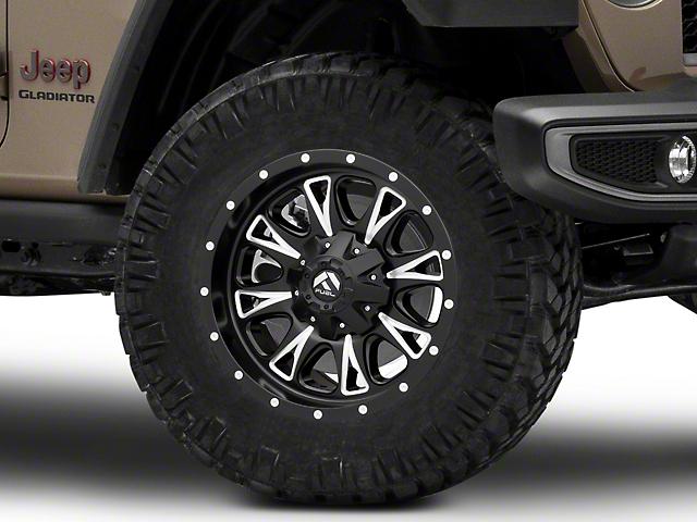 Fuel Wheels Throttle Matte Black Milled Wheel; 18x9 (20-22 Jeep Gladiator JT)