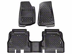 Rugged Ridge All-Terrain Front and Rear Floor Mats; Black (20-22 Jeep Gladiator JT)