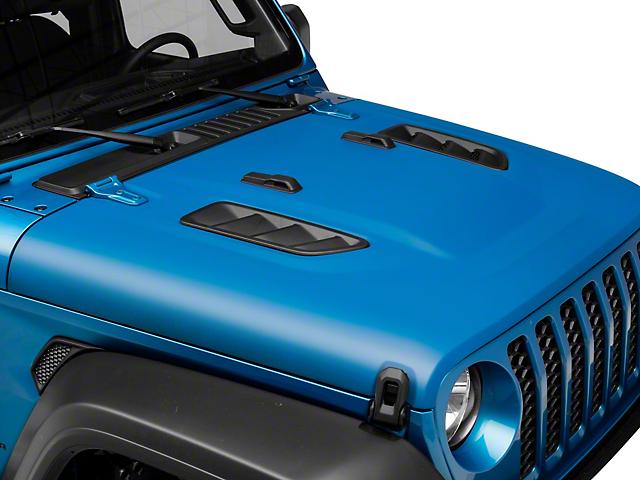 RedRock 4x4 Avenger Heat Dispersion Hood; Unpainted (20-22 Jeep Gladiator JT)