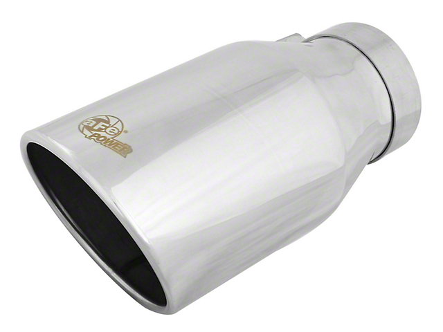 AFE 6-Inch MACH Force-XP 304 Stainless Steel Exhaust Tip; Polished (Fits 4-Inch Tailpipe)