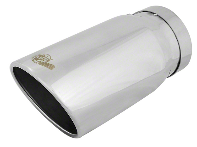 AFE 6-Inch MACH Force-XP 304 Stainless Steel Exhaust Tip; Polished (Fits 5-Inch Tailpipe)