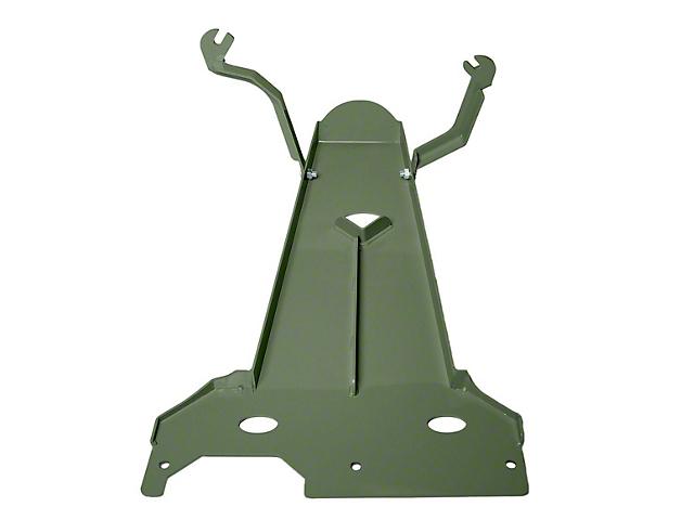 M.O.R.E. Oil Pan/Transmission Skid Plate; Army Green (20-22 3.6L Jeep Gladiator JT)